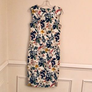 Carolina Herrera Botanical Print Sheath Dress